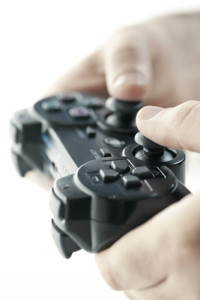 Hands with game controller